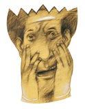 De vrees van het masker Stock Fotografie