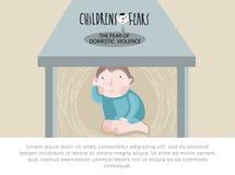De vrees van kinderen Vector illustratie vector illustratie