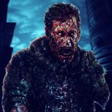 De vreselijke schreeuw van de zombiemilitair - Hersenen! De illustratie van het tekeningskarakter royalty-vrije illustratie