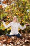 De vreugde van de herfst Stock Afbeelding