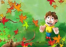 De Vreugde van de herfst Stock Foto
