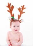 De vreugde van de Kerstmisbaby Stock Afbeelding