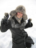 De vreugde van de winter Stock Foto