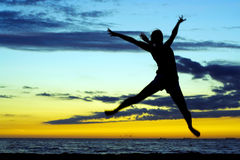 De vreugde van de zonsondergang. Royalty-vrije Stock Fotografie