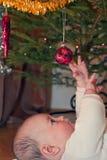 De vreugde van eerste Kerstmis Stock Afbeelding