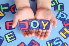 De Vreugde van het kind Stock Foto