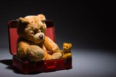 De vrienden en de koffer van Teddy Stock Foto's
