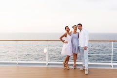 De vrienden kruisen schip Stock Foto