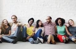 De vrienden steunen Team Unity Friendship Concept royalty-vrije stock fotografie