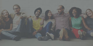 De vrienden steunen Team Unity Friendship Concept royalty-vrije stock afbeelding