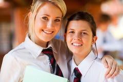 De vrienden van de middelbare school royalty-vrije stock foto