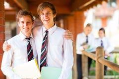 De vrienden van de middelbare school Royalty-vrije Stock Afbeeldingen