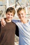 De vrienden van de tiener stock foto's