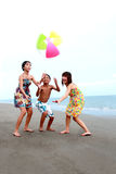 De vrienden van het strand royalty-vrije stock foto's