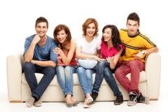 De vrienden van TV Royalty-vrije Stock Foto's