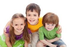 De vriendenportret van kinderjaren Stock Afbeelding
