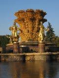 De vriendschap van de fontein van naties in Moskou Stock Foto