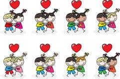 De vriendschap van liefdeomhelzingen Stock Foto