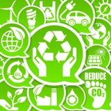 De vriendschappelijke achtergrond van Eco Royalty-vrije Stock Foto