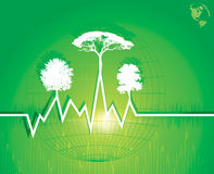 De vriendschappelijke achtergrond van Eco Royalty-vrije Stock Afbeelding
