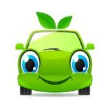 De vriendschappelijke auto van Eco. Vector pictogram Stock Fotografie