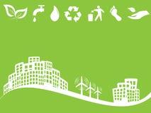 De vriendschappelijke groene stad van Eco Stock Foto