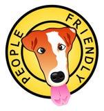 De vriendschappelijke hond van mensen stock illustratie