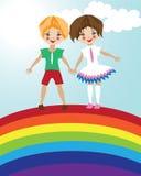 De vriendschapsillustratie van kinderen Stock Illustratie