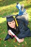 De vrij Aziatische Vrouw van de Graduatie stock foto's