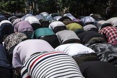 De vrijdag bidt bij Huxi-Moskee, Shanghai stock foto