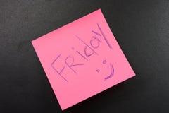 De Vrijdag van de sticker Stock Fotografie