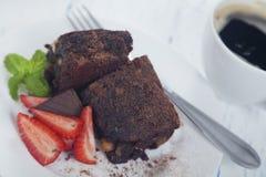 De vrije brownie van het gluten royalty-vrije stock fotografie