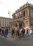 De Vrije Dag van de auto, Boedapest, Hongarije Stock Foto
