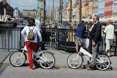 De vrije fiets van de Stad Stock Afbeeldingen