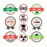 De Vrije geplaatste zegels en de etiketten van GMO Royalty-vrije Stock Afbeeldingen