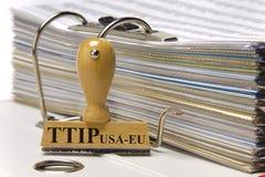 De vrije handelsovereenkomst van TTIP Stock Foto's