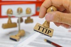 De vrije handelsovereenkomst van TTIP Royalty-vrije Stock Foto