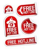 De vrije stickers van de Hotline. Royalty-vrije Stock Afbeeldingen