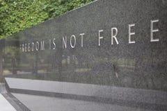 De vrijheid is niet Vrij stock afbeelding