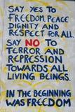 De vrijheid van de de muurgraffiti van Berlijn royalty-vrije stock fotografie
