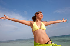 De vrijheid van het strand Royalty-vrije Stock Foto's