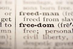 De vrijheid van Word Royalty-vrije Stock Foto