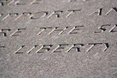 De Vrijheid van Word die in steen wordt gegraveerd Royalty-vrije Stock Fotografie
