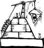 De vrijmetselaars- Bouw van de Piramide vector illustratie