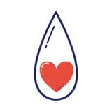 De vrijwilligersvector van het bloeddonatiepictogram Stock Fotografie