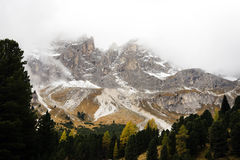 De vroege herfst in het Dolomiet Royalty-vrije Stock Foto's