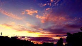 De vroege kleur van de ochtendbuurt toont royalty-vrije stock foto