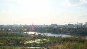 De vroege Lente in Moskou, Torpedostadion Stock Fotografie