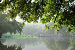 De vroege ochtend van Hongcun Royalty-vrije Stock Foto's