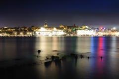De vroege winter Stockholm in dark   Royalty-vrije Stock Afbeeldingen
